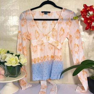 French connection long sleeve blouse